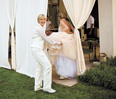 Ellen And Portia Wedding.Ellen And Portia S Wedding Day